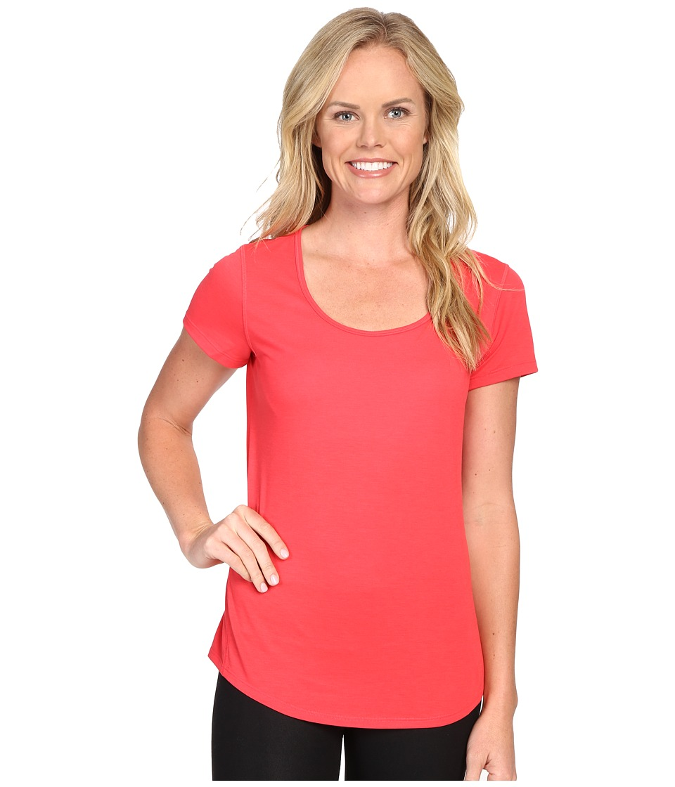 Lucy - S/S Workout Tee (Passion Pink) Women's Workout