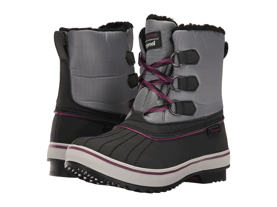 BOBS from SKECHERS - Highlanders - Polar Bear (Black/Purple) Women's Boots