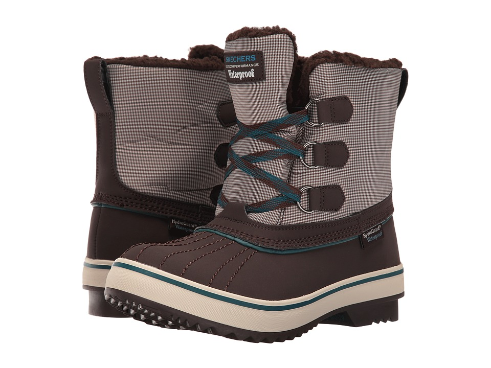 SKECHERS - Highlanders - Polar Bear (Chocolate/Teal) Women's Boots