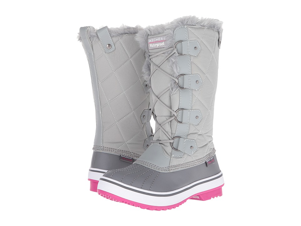 SKECHERS - Highlands-Cottontail (Grey/Pink) Women's Cold Weather Boots