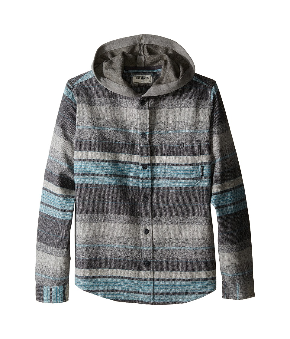 Billabong Kids - Horizon Long Sleeve Button Up Shirt (Big Kids) (Grey Heather) Boy's Long Sleeve Button Up