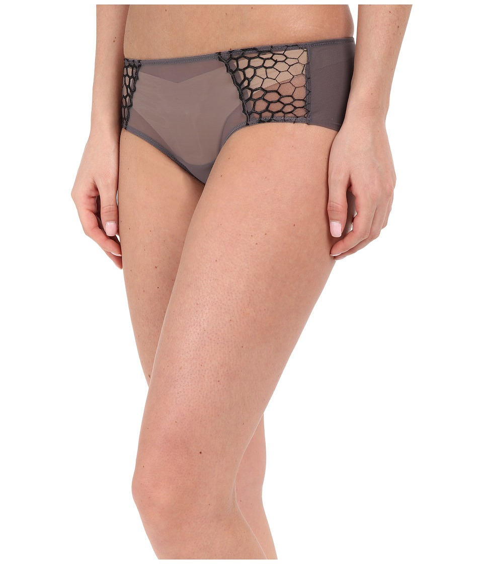 Natori - Showcase French Brief (Gunmetal Combo) Women's Underwear