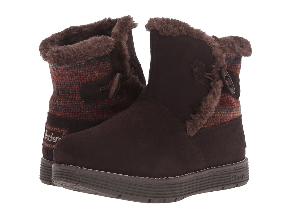 SKECHERS - Adorbs (Chocolate) Women's Boots
