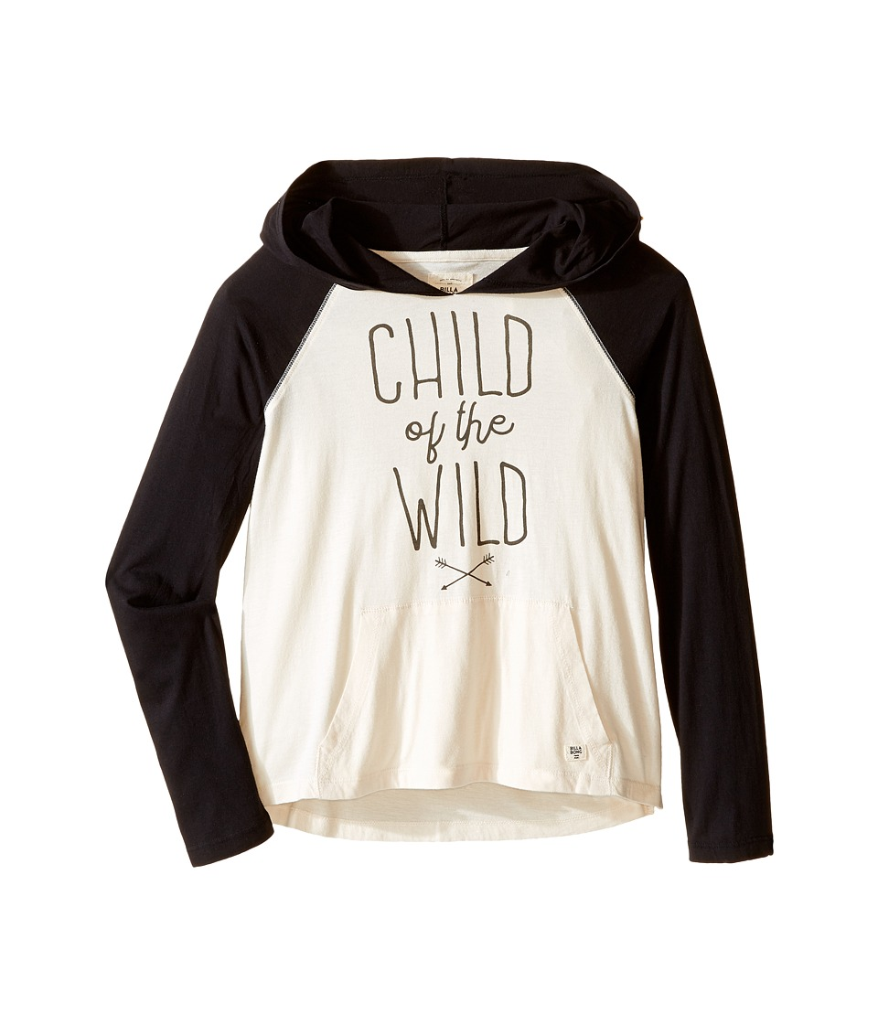 Billabong Kids - Right Back Hooded Pullover (Little Kids/Big Kids) (Black) Girl's Long Sleeve Pullover