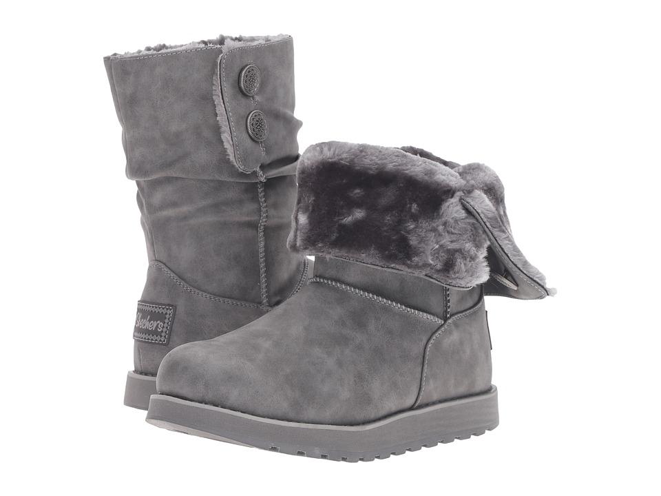 SKECHERS - Keepsakes - Leatherette (Charcoal) Women's Boots
