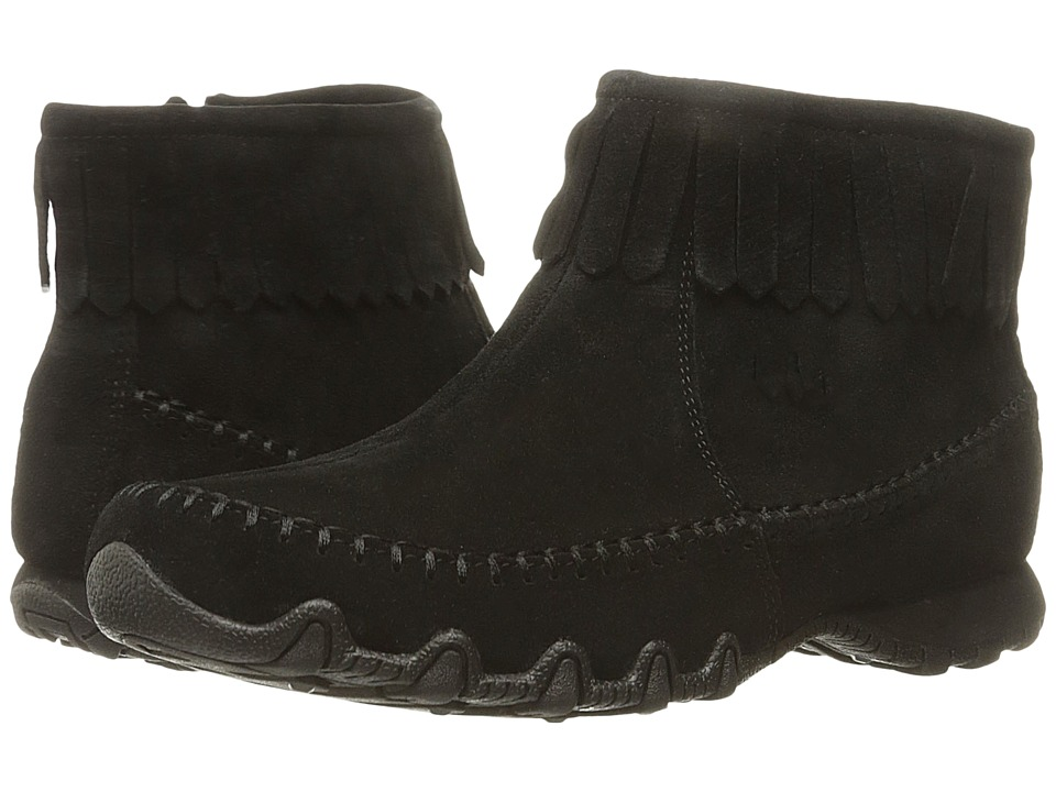SKECHERS - Bikers - Indian Summer (Black) Women's Slip on Shoes