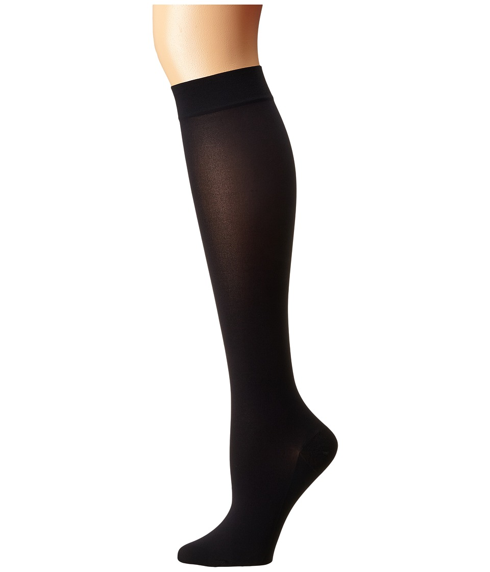 Wolford - Satin Opaque Nature Knee Highs (Admiral) Knee high Hose