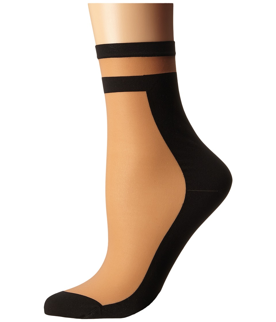 Wolford - Dari Socks (Gobi/Black) Women's Crew Cut Socks Shoes
