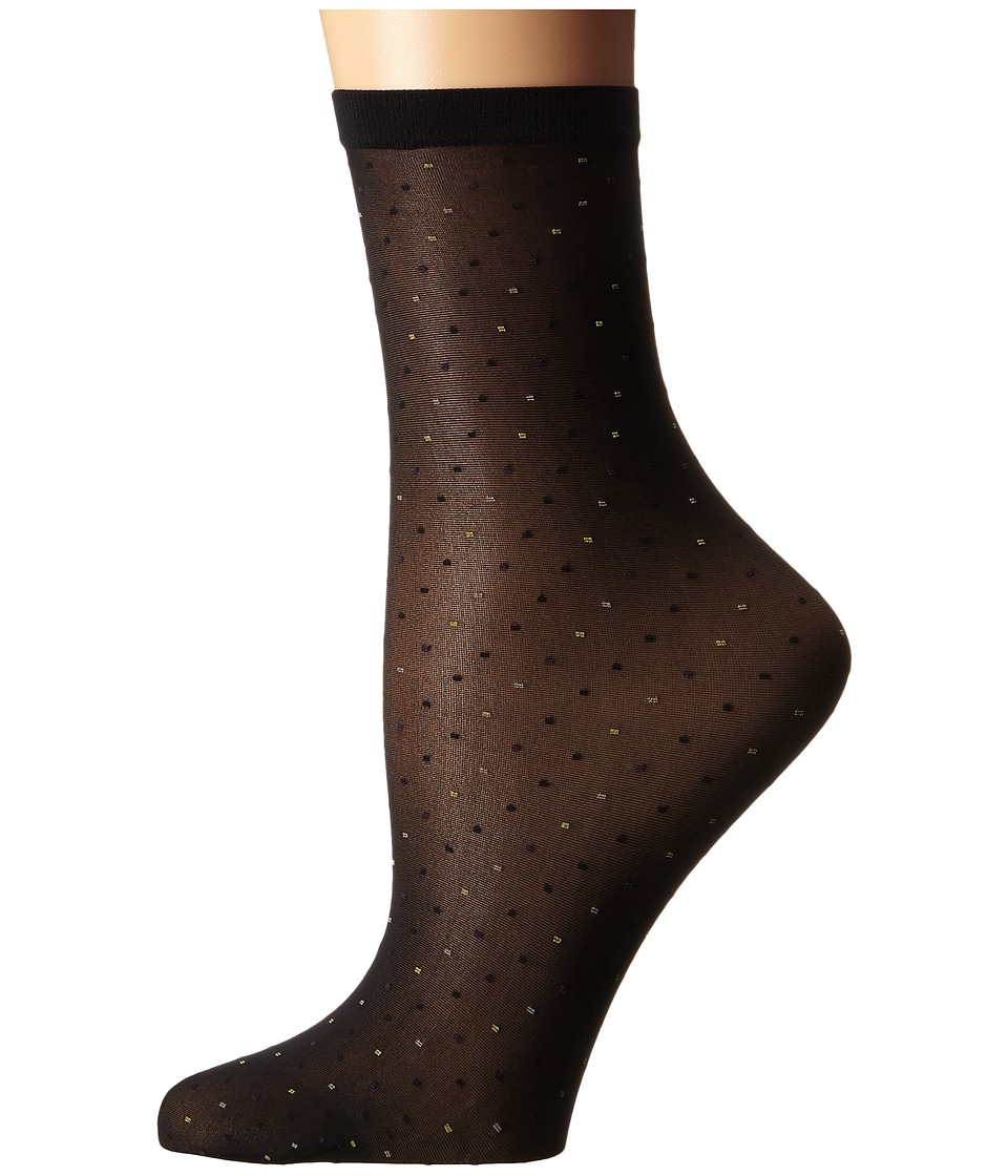Wolford - Nola Socks (Black/Multicolor) Women's Crew Cut Socks Shoes