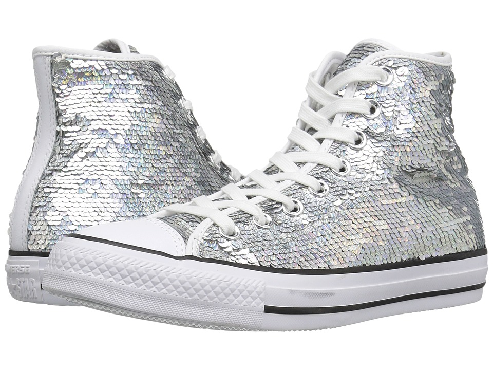 Converse - Chuck Taylor All Star Holiday Party Hi (Silver/White/Black) Women's Shoes