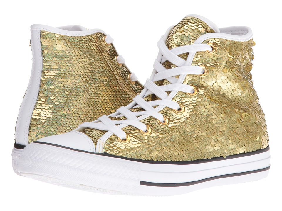 Converse - Chuck Taylor All Star Holiday Party Hi (Gold/White/Black) Women's Shoes