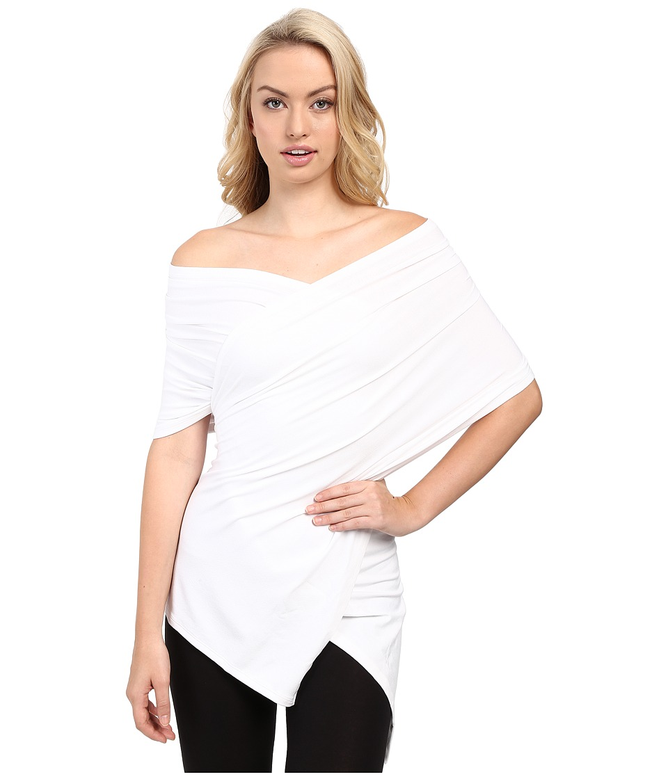 Wolford - Multifunction Scarf Top (White) Women's Clothing