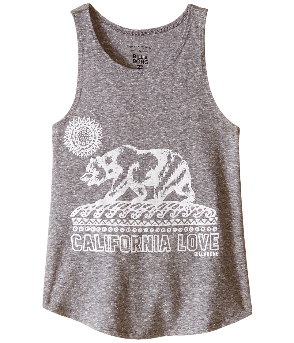 Billabong Kids - Cali Love Bear Tank Top (Little Kids/Big Kids) (Dark Athletic Grey) Girl's Sleeveless