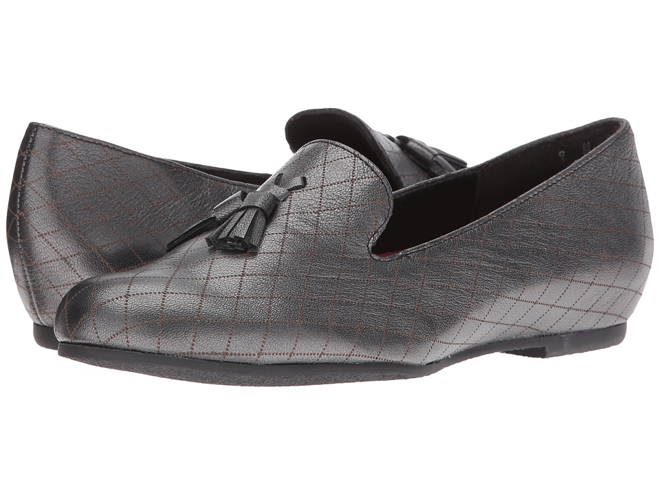 Munro - Tallie (Black Graphite Leather) Women's Slippers