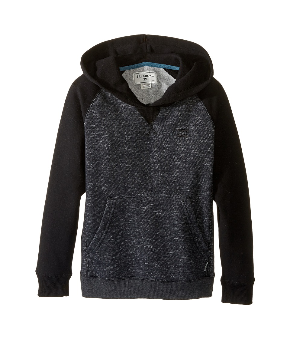 Billabong Kids - Balance Pullover Hoodie (Toddler/Little Kids) (Black Heather) Boy's Sweatshirt