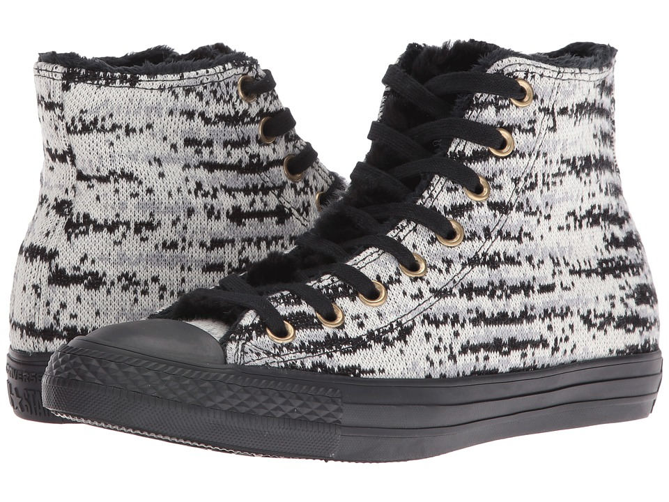 Converse Chuck Taylor All Star Knit + Fur Hi (Dolphin/Egret/Black) Women