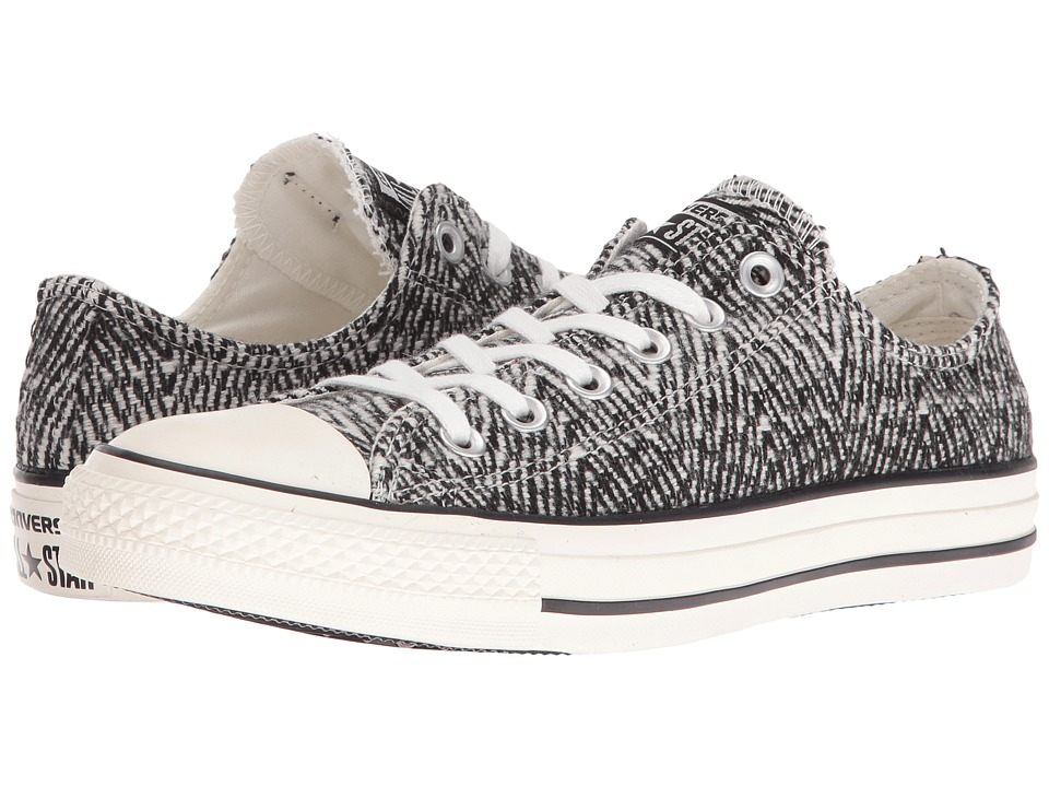 Converse - Chuck Taylor All Star Mixed Material Ox (Black/Egret/Egret) Women's Shoes