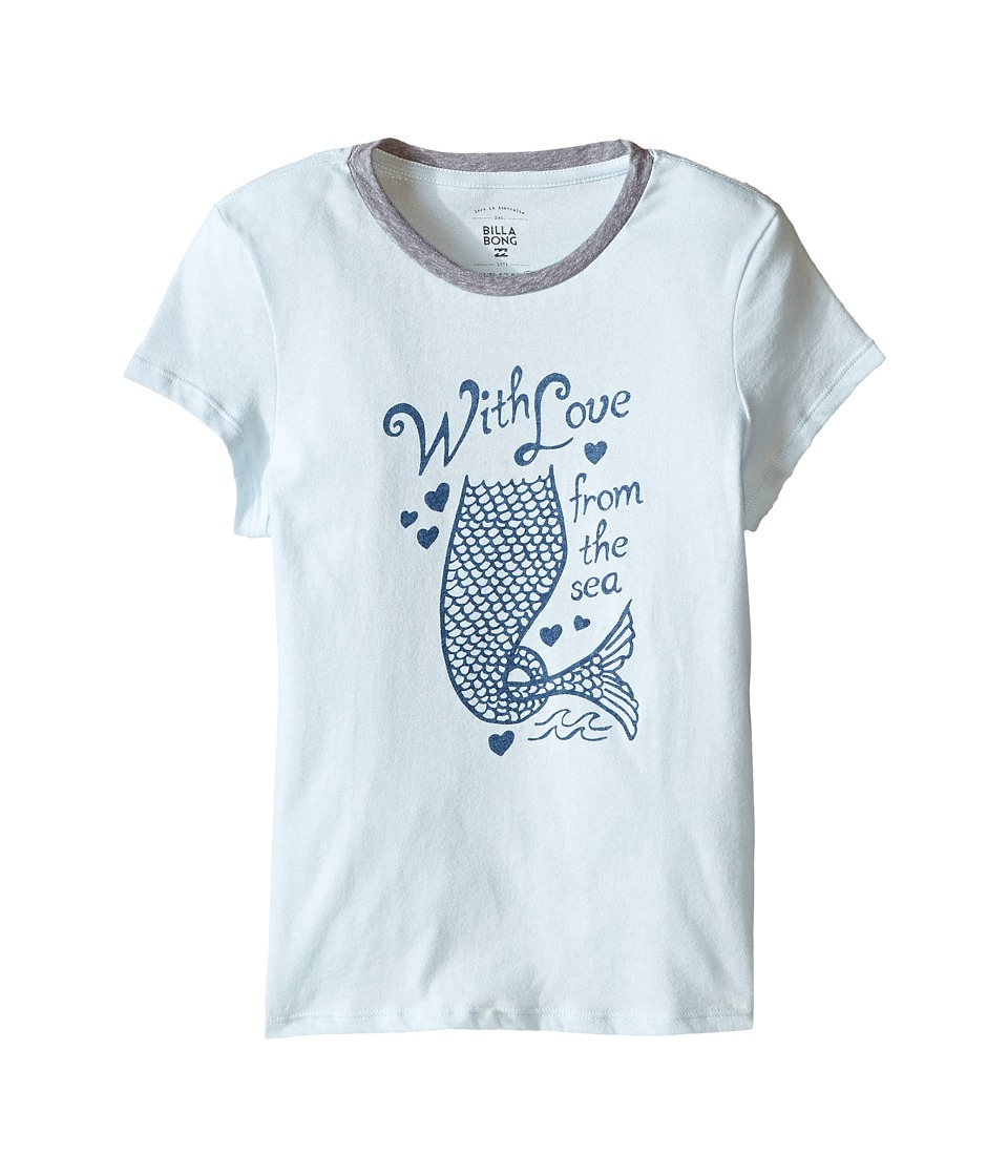 Billabong Kids - With Love From Sea Tee (Little Kids/Big Kids) (Skylight) Girl's T Shirt