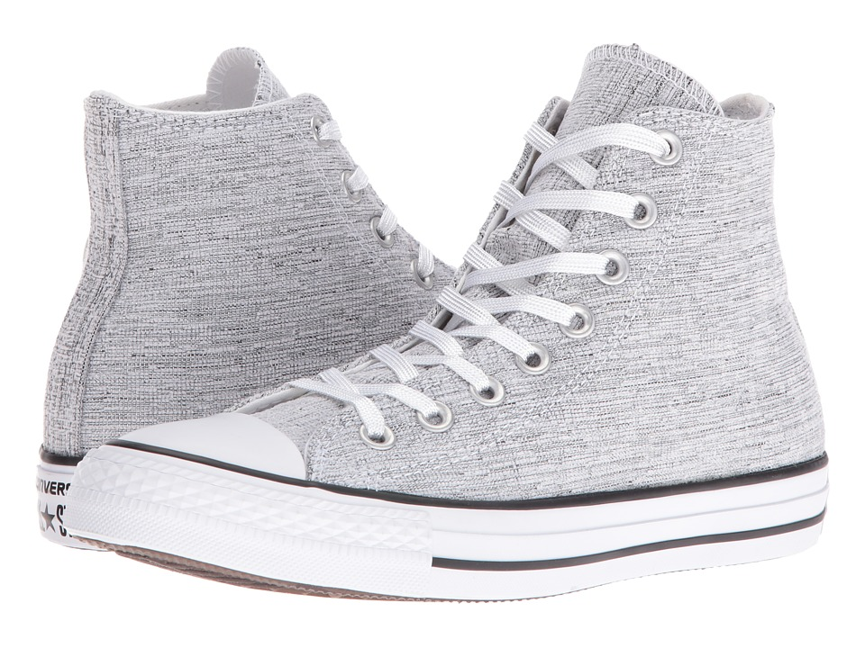 Converse - Chuck Taylor All Star Sparkle Knit Hi (Black/White/Black) Women's Shoes