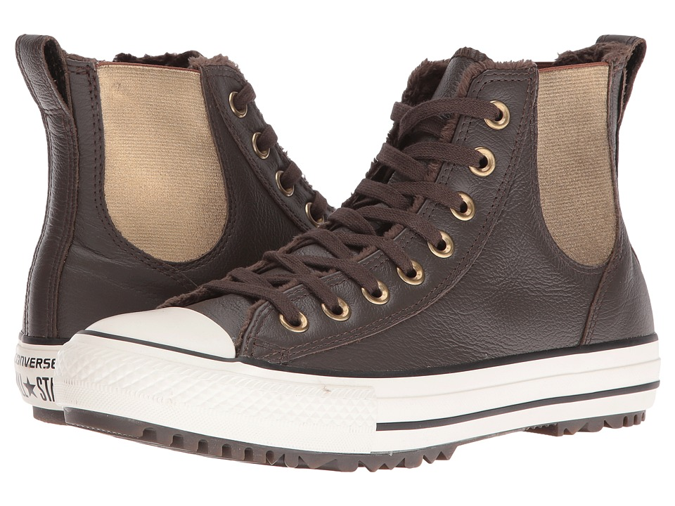Converse Chuck Taylor All Star Leather + Fur Chelsea Boot (Hot Cocoa/Black/Egret) Women