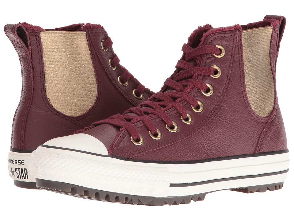 Converse Chuck Taylor All Star Leather + Fur Chelsea Boot (Deep Bordeaux/Black/Egret) Women