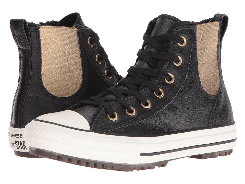 Converse Chuck Taylor All Star Leather + Fur Chelsea Boot (Black/Black/Egret) Women