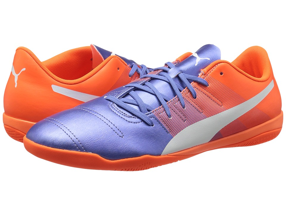 PUMA - evoPOWER 4.3 IT (Blue Yonder/Puma White/Shocking Orange) Men's Shoes