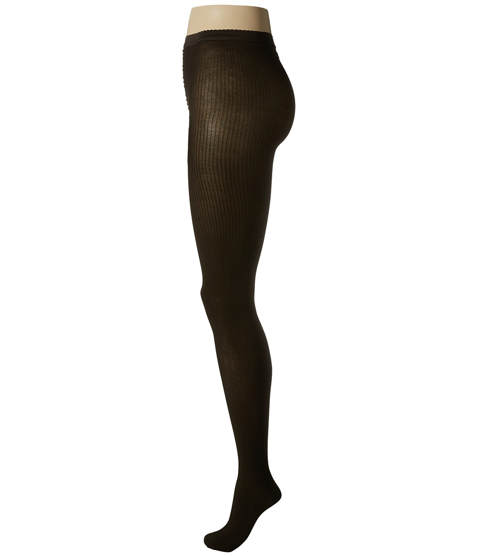 Wolford - Superfine Cotton Rib Tights (Mocca) Hose