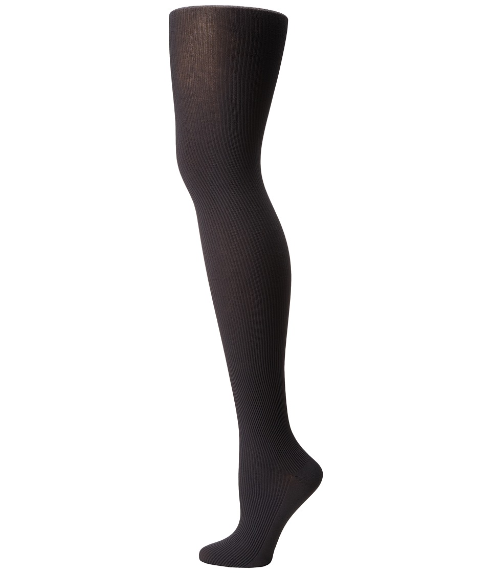 Wolford - Superfine Cotton Rib Tights (Anthracite) Hose