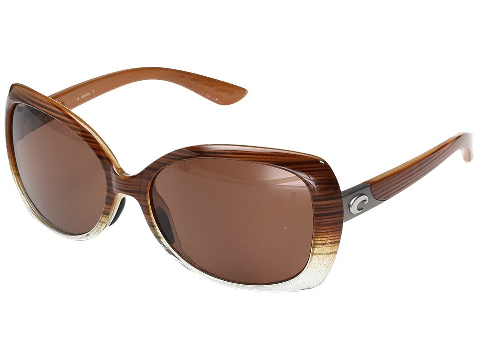 Costa - Sea Fan (Wood Fade Frame/Copper 580P) Fashion Sunglasses