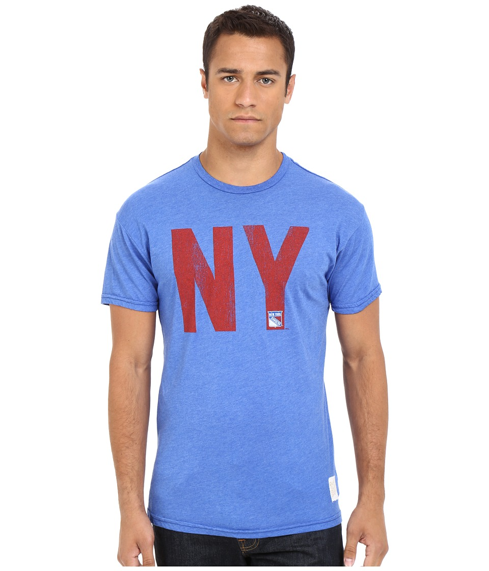 The Original Retro Brand - Short Sleeve Heather New York Rangers T-Shirt (Heather Royal) Men's Short Sleeve Pullover