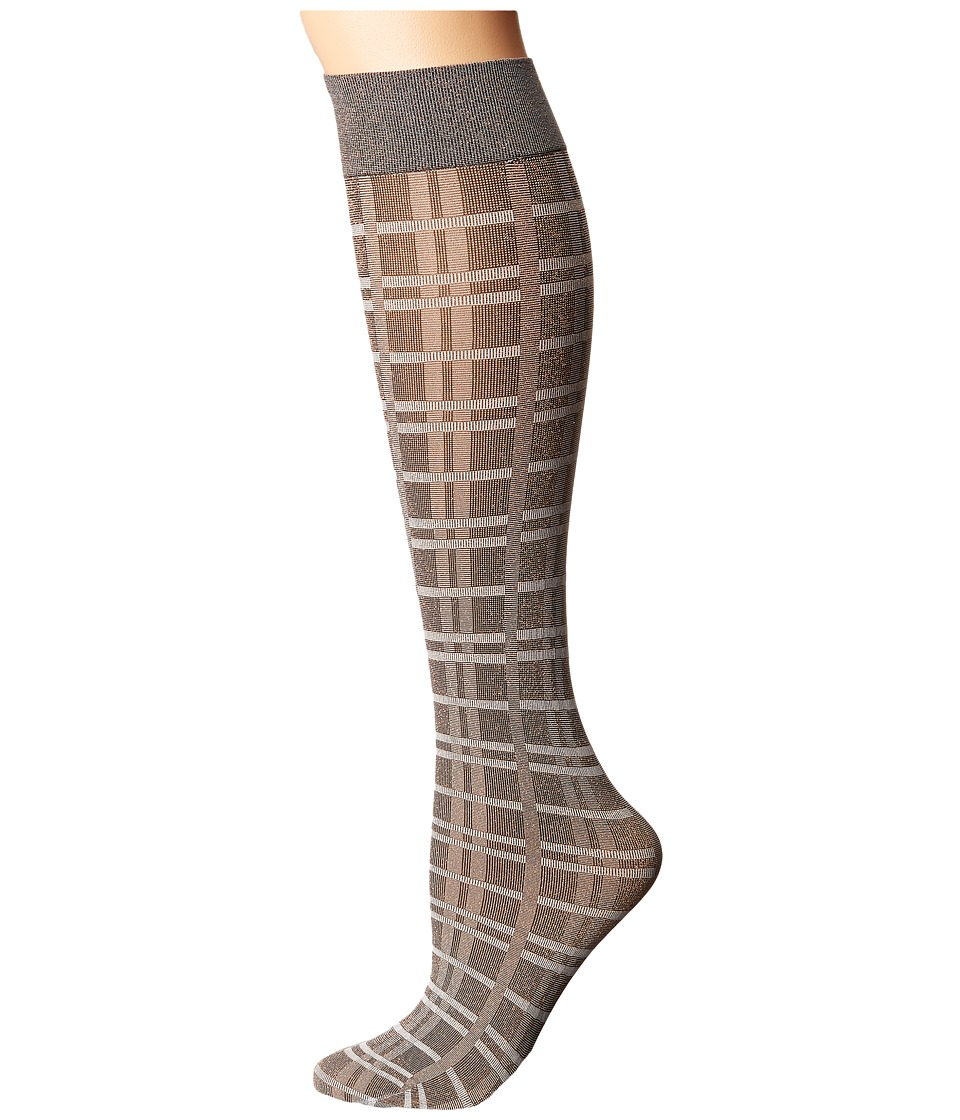 Wolford - Ana Knee Highs (Copper/Check) Knee high Hose