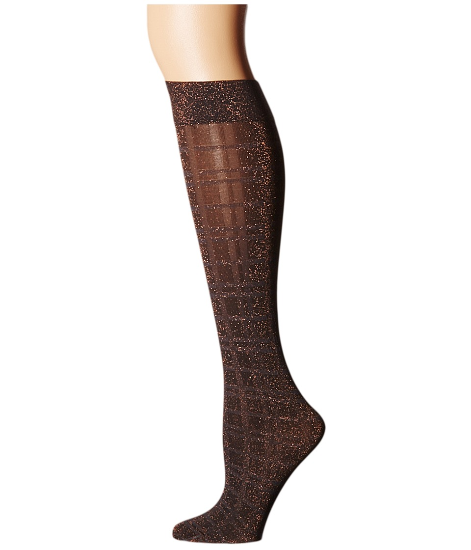 Wolford - Ana Knee Highs (Graphite/Check) Knee high Hose
