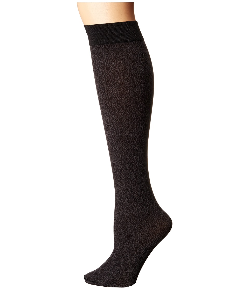Wolford - Jenn Knee Highs (Dark Grey/Black) Knee high Hose