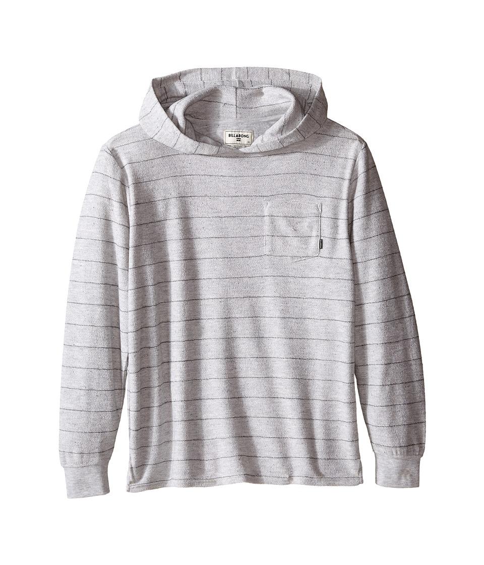 Billabong Kids - Flecker Pullover Hoodie (Big Kids) (Light Grey Heather) Boy's Sweatshirt