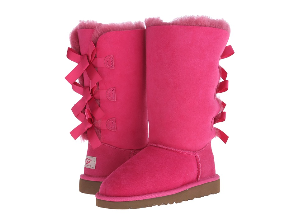 UGG Kids - Bailey Bow Tall (Little Kid/Big Kid) (Cerise) Girls Shoes