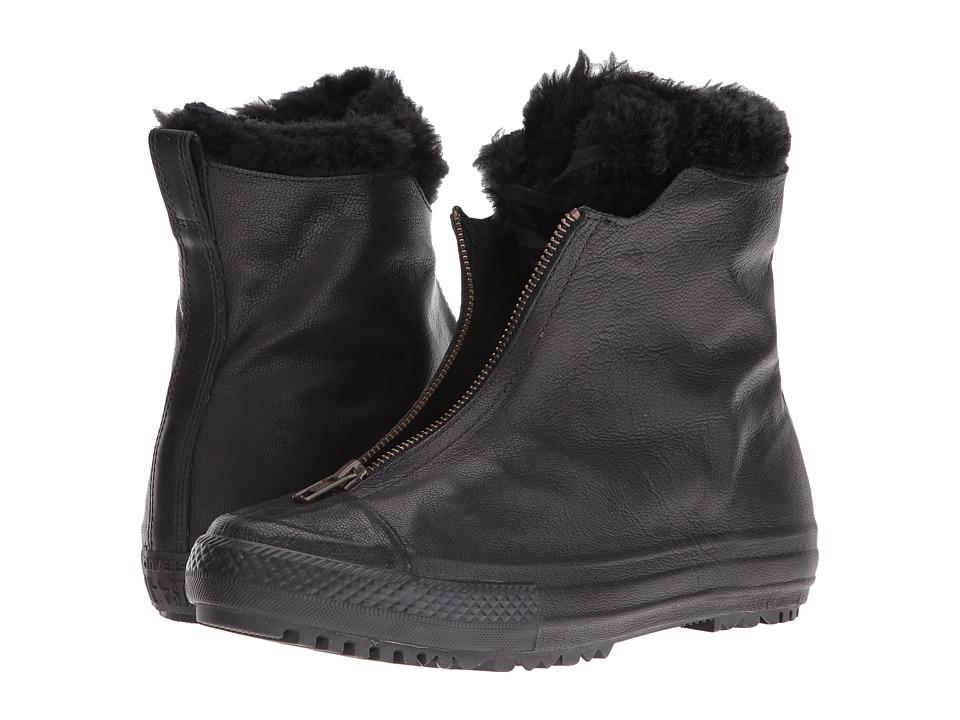 Converse Chuck Taylor(r) All Star(r) Shroud Leather + Fur Hi-Rise Boot (Black/Black/Black) Women