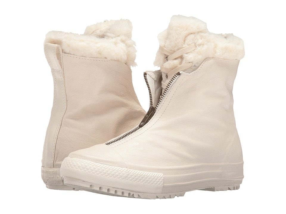 Converse - Chuck Taylor All Star Shroud Leather + Fur Hi-Rise Boot (Parchment/Egret/Egret) Women's Shoes