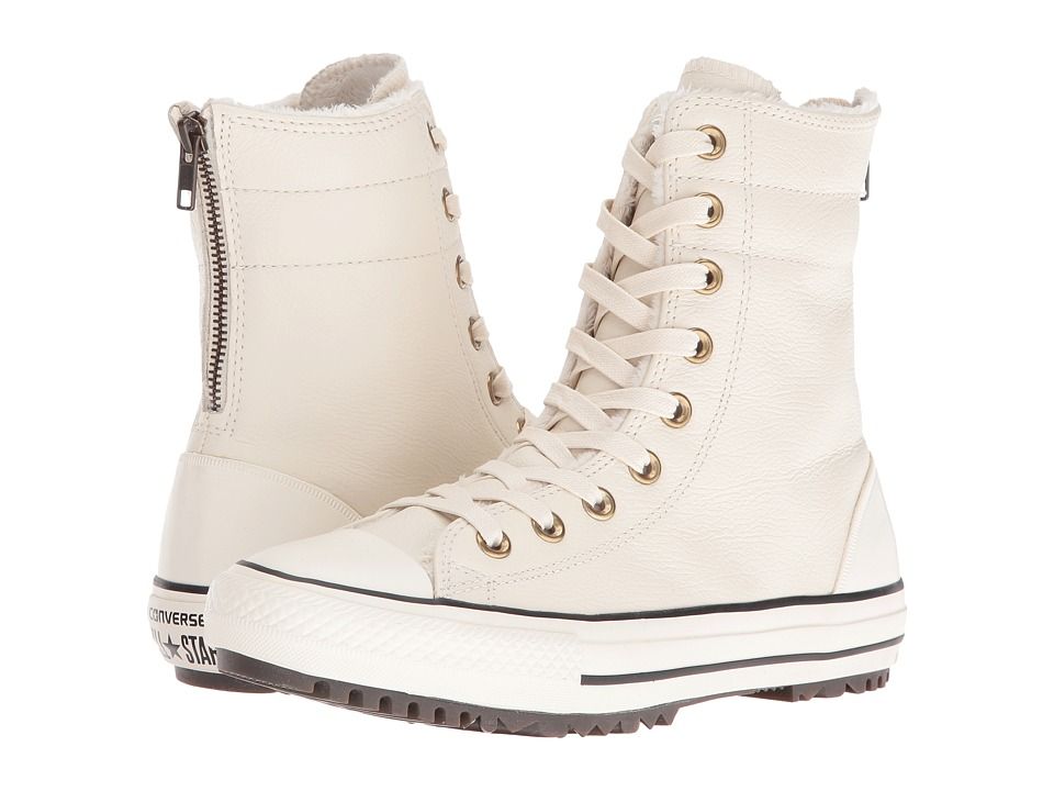 Converse Chuck Taylor All Star Leather + Fur Hi-Rise Boot XHi (Parchment/Black/Egret) Women