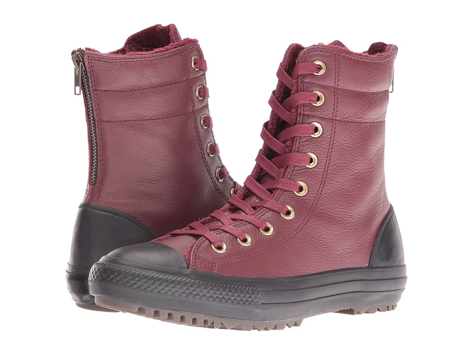 Converse Chuck Taylor All Star Leather + Fur Hi-Rise Boot XHi (Deep Bordeaux/Black/Black) Women