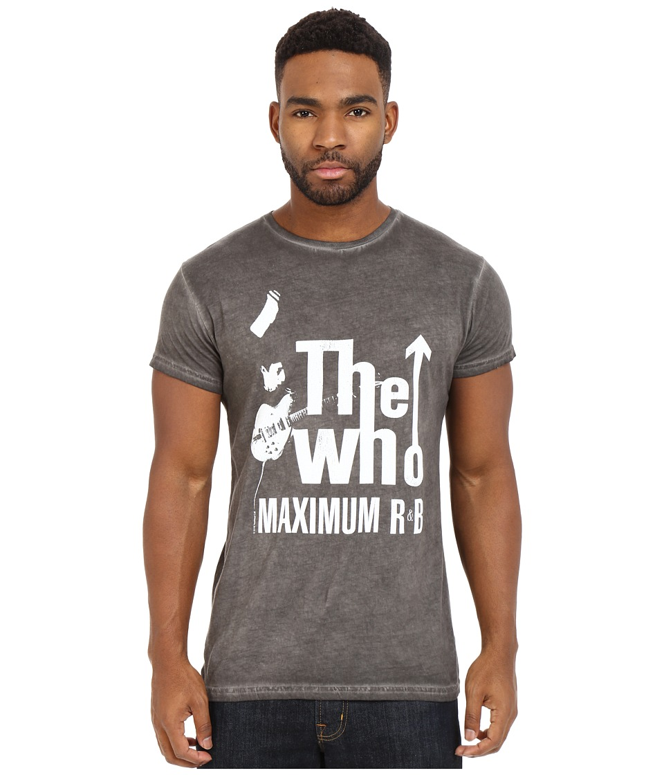 The Original Retro Brand - Short Sleeve Oil Wash The Who T-Shirt (Oil Wash Black) Men's T Shirt