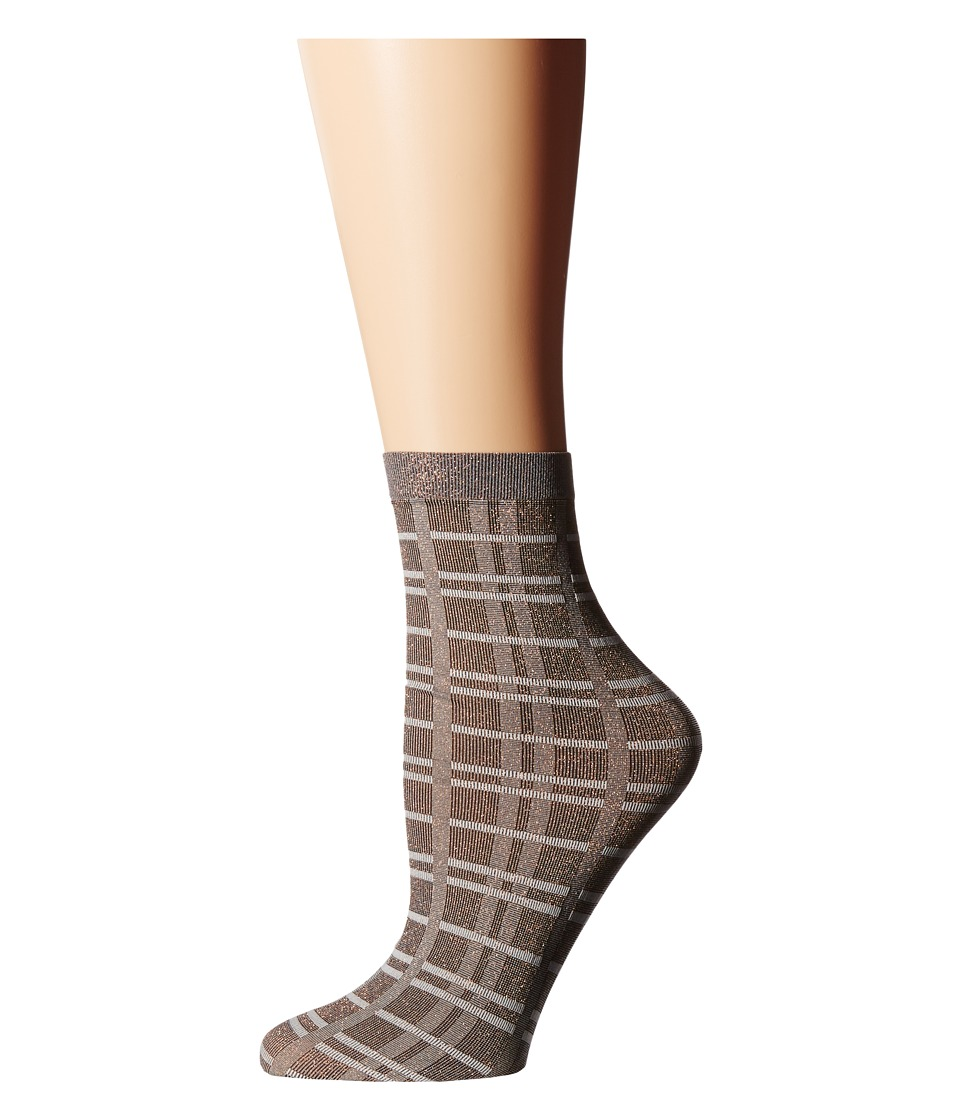 Wolford - Ana Socks (Copper/Check) Women's Crew Cut Socks Shoes