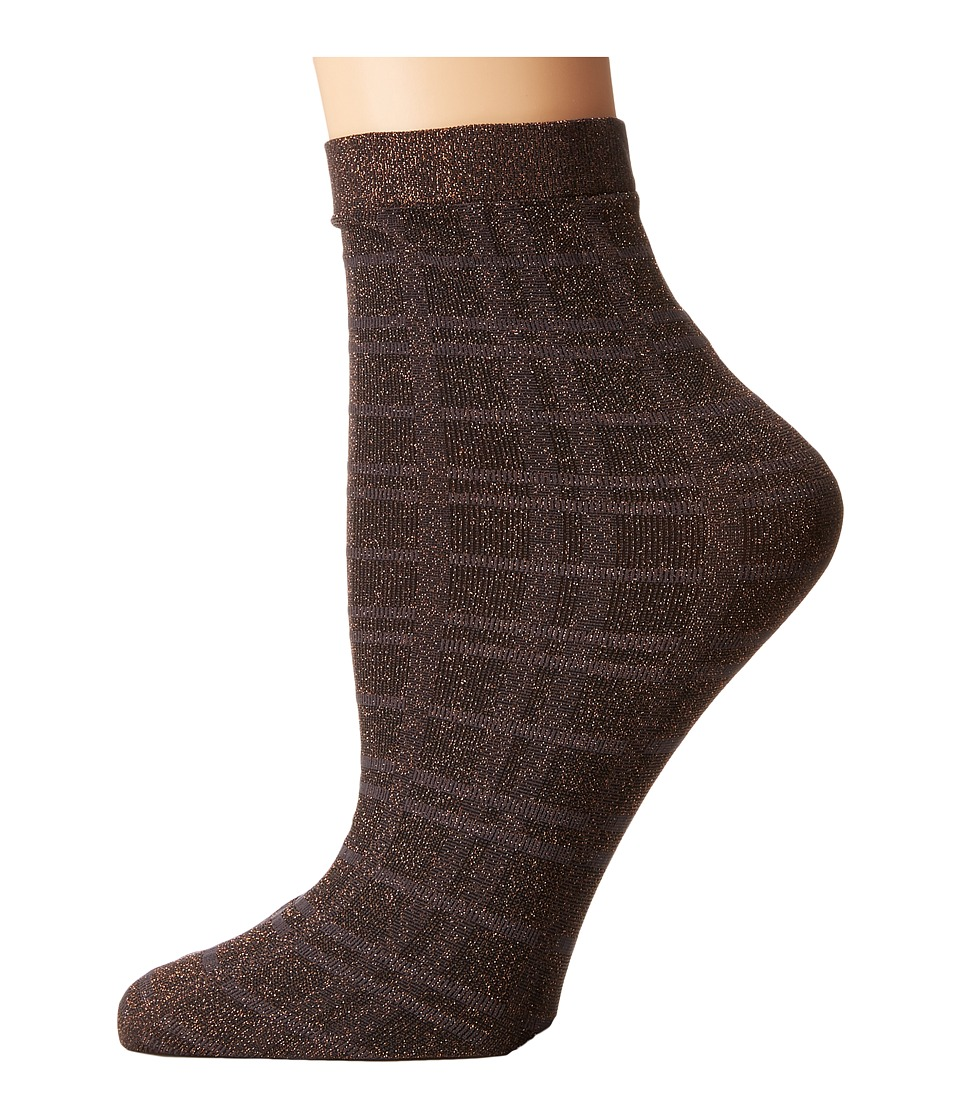 Wolford - Ana Socks (Graphite/Check) Women's Crew Cut Socks Shoes