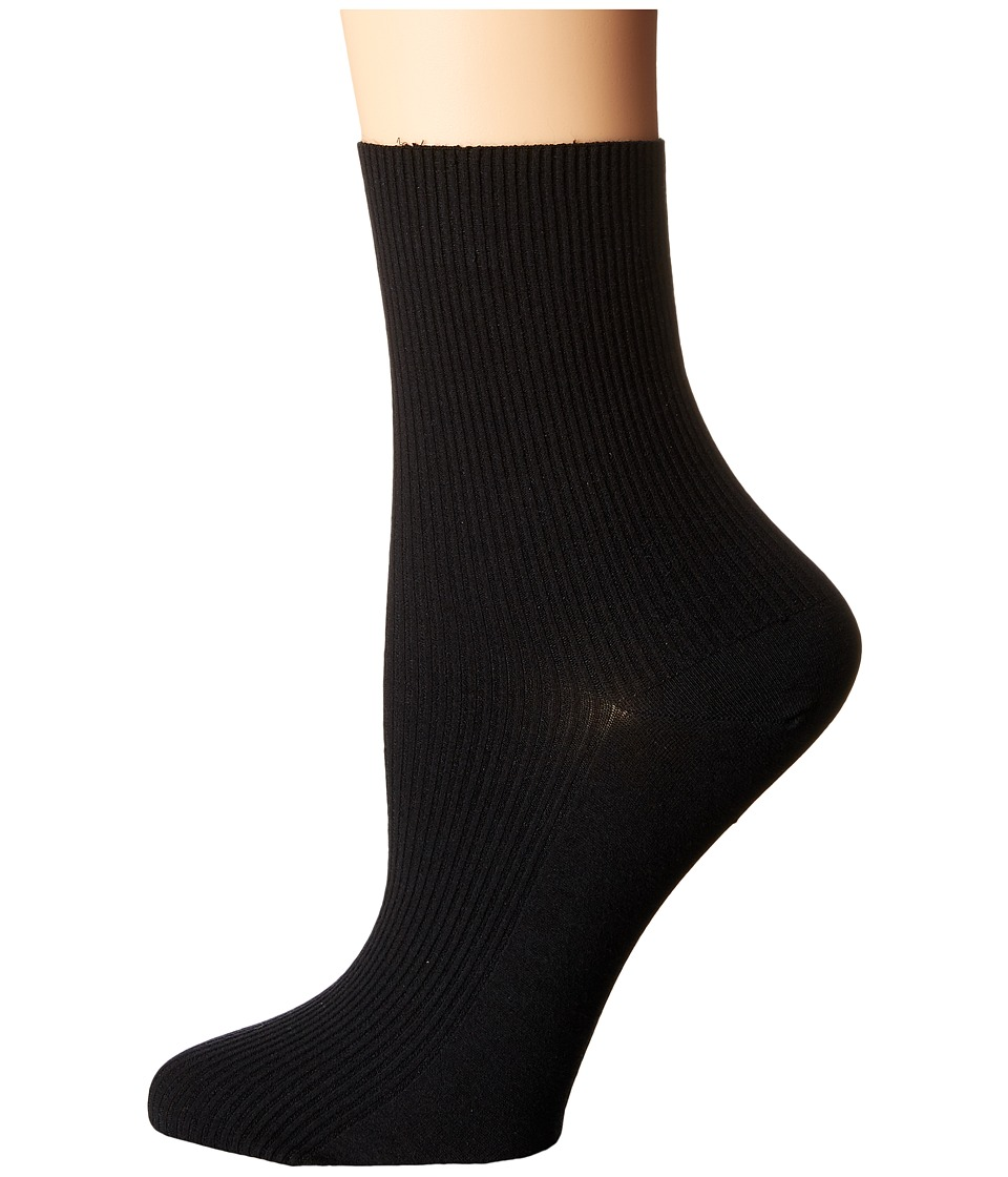 Wolford - Louise Socks (Black) Women's Crew Cut Socks Shoes