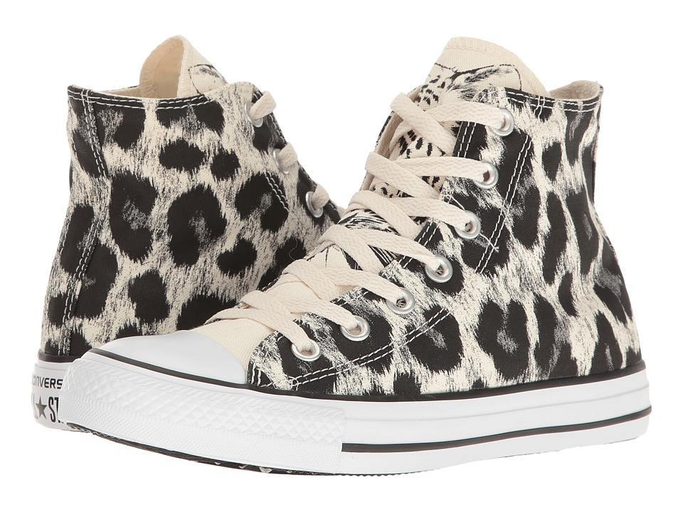 Converse - Chuck Taylor All Star Animal Print Hi (Parchment/Black/White) Women's Classic Shoes
