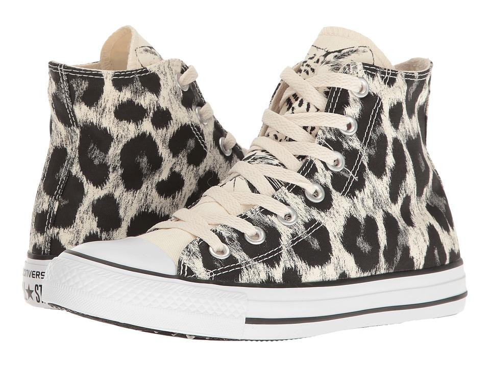 Converse - Chuck Taylor All Star Animal Print Hi (Parchment/Black/White) Women's Classic Shoes