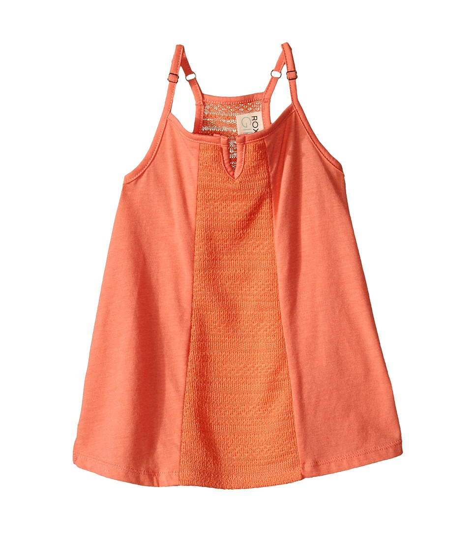 Roxy Kids - Cali Girl Top (Toddler/Little Kids) (Living Coral) Girl's Clothing