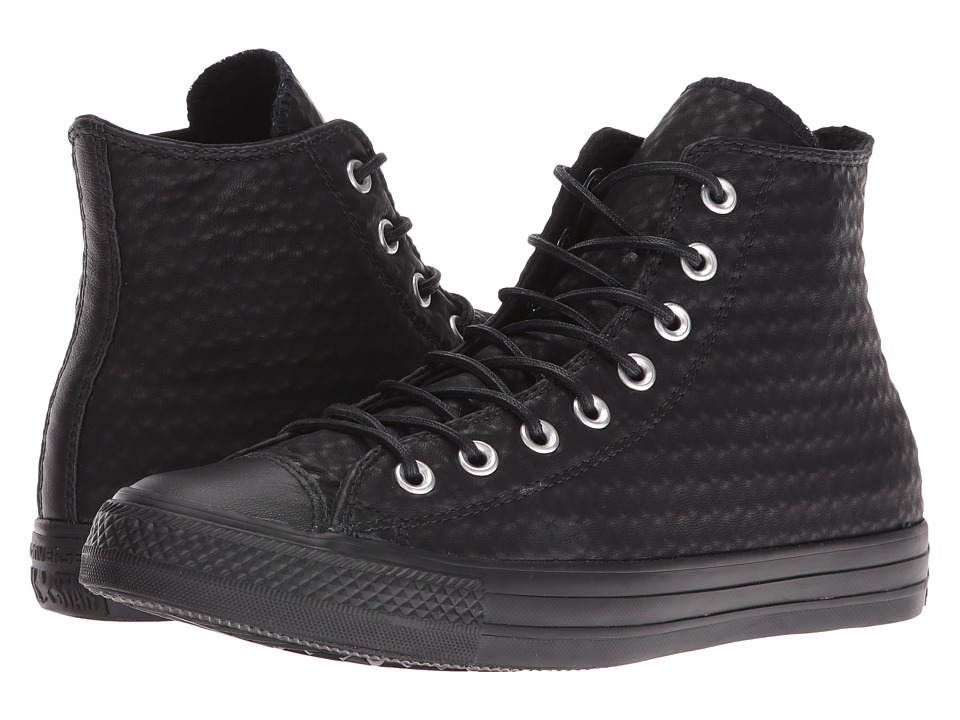 Converse - Chuck Taylor All Star Craft Leather Hi (Black/Black/Black) Women's Shoes