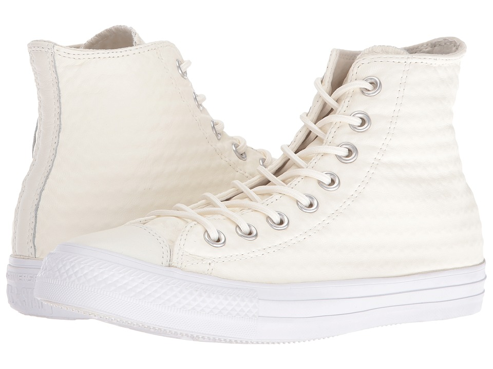 Converse - Chuck Taylor All Star Craft Leather Hi (White/White/White) Women's Shoes