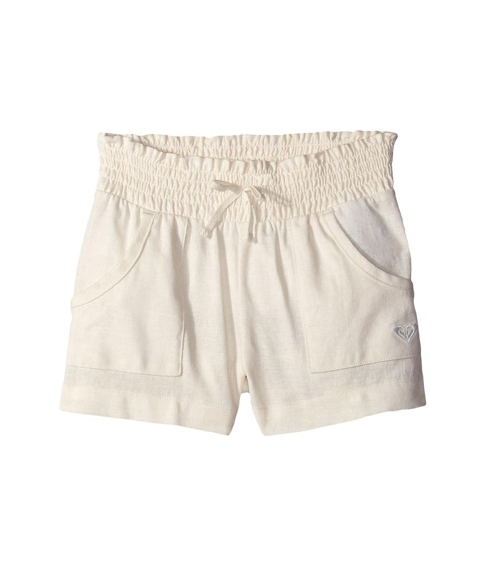 Roxy Kids - Beach Comber Shorts (Toddler/Little Kids) (Natural Linen) Girl's Shorts